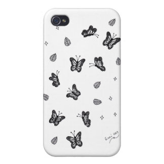 Butterfly Doodle 1 iPhone 4 Cover