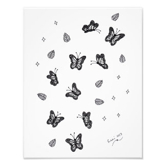 Butterfly Doodle 1 Photo Print
