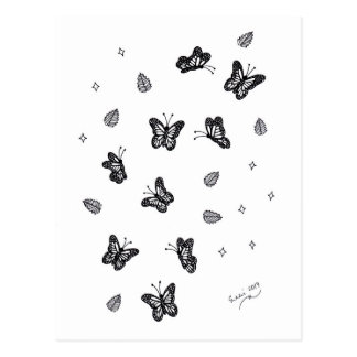Butterfly Doodle 1 Postcard