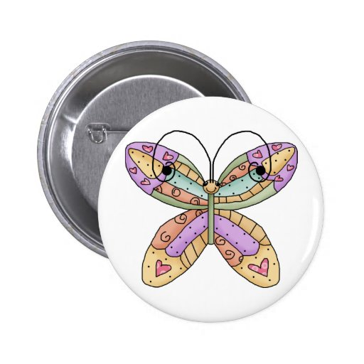 Butterfly Doodle Button