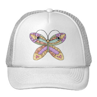 Butterfly Doodle Mesh Hats