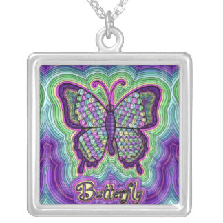 Butterfly Doodle Necklace