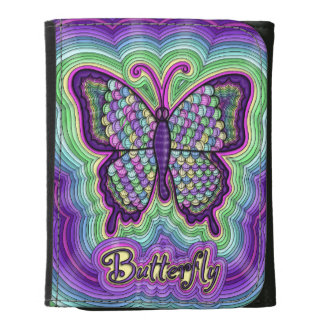 Butterfly Doodle Small Leather Wallet