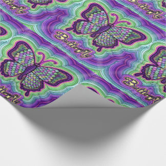 Butterfly Doodle Wrapping Paper