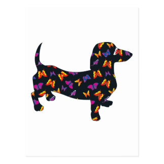 Butterfly Doxie Dachshund Postcard