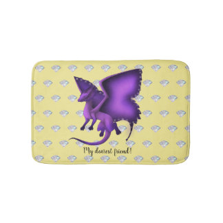 Butterfly Dragon Bath Mat Diamonds