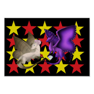 Butterfly Dragons Best Friends Stars Poster