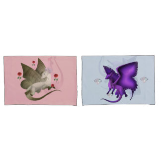 Butterfly Dragons BFF Pair Pillow Cases