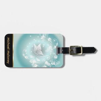 Butterfly Dream Fantasy Mint Luggage Tag
