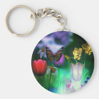 Butterfly dream garden Key Chain