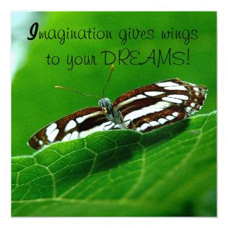 Butterfly Dreams Envelope 13 Cm X 13 Cm Square Invitation Card