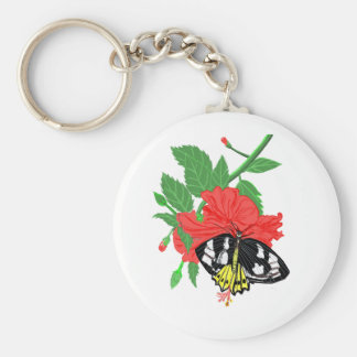 Butterfly Drinking Nectar Key Ring