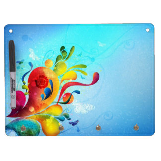 Butterfly Dry Erase Board w/Key Hooks!