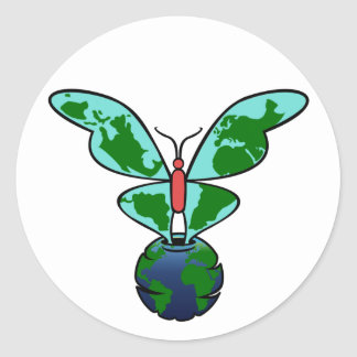 Butterfly Earth Sticker
