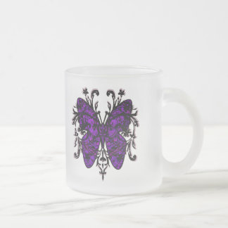 Butterfly Effect (purple) Frosted Glass Mug