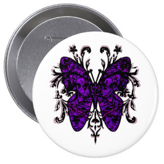 Butterfly Effect purple Pinback Button