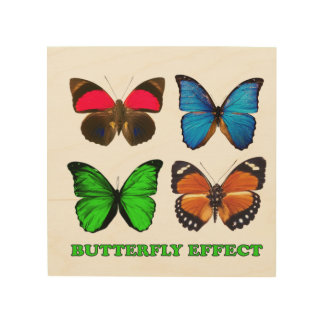 Butterfly effect wood wall art