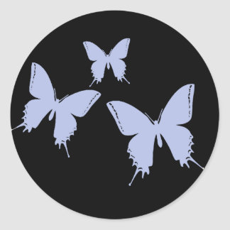 Butterfly Envelope Enclosure Classic Round Sticker