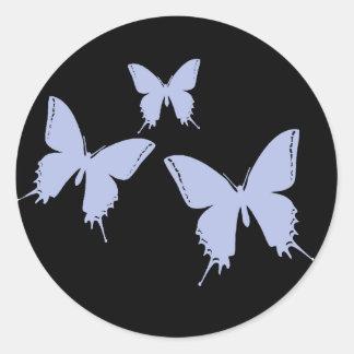 Butterfly Envelope Enclosure Round Sticker