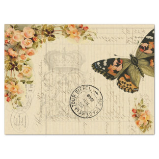 butterfly Ephemera Decoupage Tissue Tissue Paper