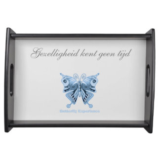 Butterfly Experience server of shirt to design Food Tray