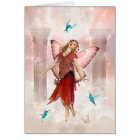 Butterfly Fairy and Hummingbirds Card