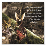 Butterfly Fairy Hans Anderson Quote Photo Print
