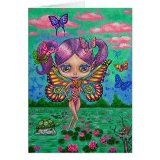 Butterfly Fairy of the Water Lilies Card