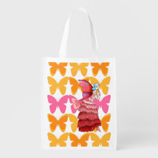 Butterfly Fairy reusable grocery bag shopping tote