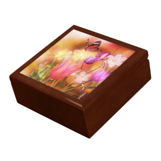 Butterfly fantasy garden trinket box