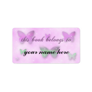Butterfly Fantasy Library Book Label