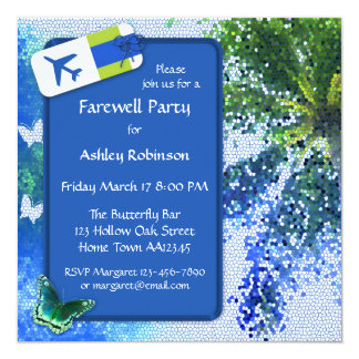 Butterfly Farewell or Retirement Party Invitation