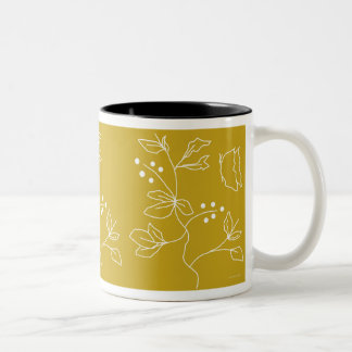 Butterfly Field Two-Tone Coffee Mug