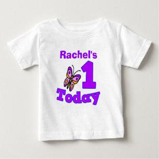 Butterfly First Birthday Girl Shirt
