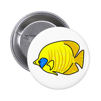 butterfly fish 6 cm round badge