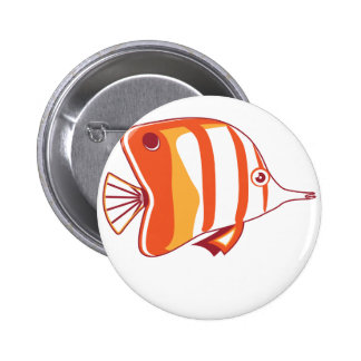 Butterfly fish button