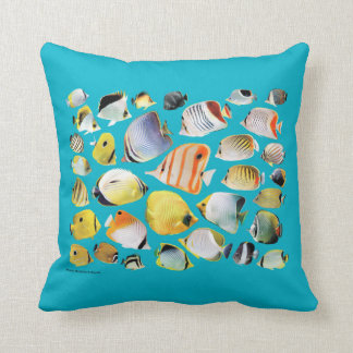 Butterfly fish cushions