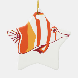 Butterfly fish christmas ornaments