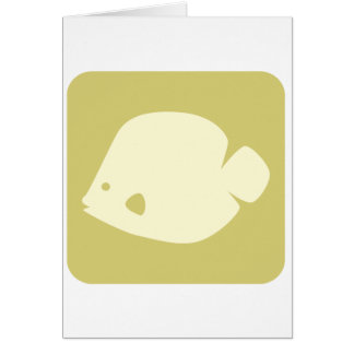 Butterfly Fish Icon Card