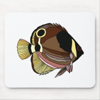 Butterfly Fish Mouse Pads