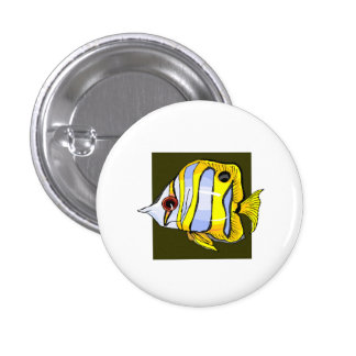 Butterfly Fish Pinback Buttons