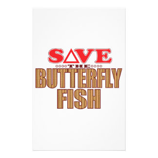 Butterfly Fish Save Personalized Stationery