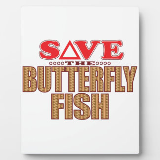 Butterfly Fish Save Photo Plaques