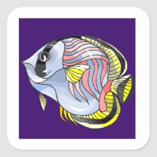 Butterfly Fish Square Stickers