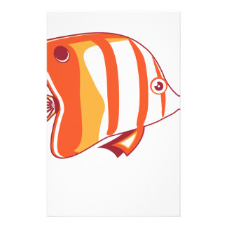 Butterfly fish stationery design