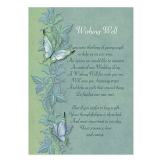 Butterfly Flight FloralWishing Well Card Pack Of Chubby Business Cards