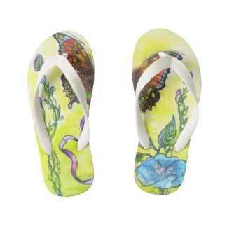 """""""Butterfly"""" - Flip Flops, Kids Thongs"""