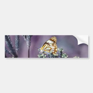 Butterfly Flitter Flutter vintage Bumper Stickers
