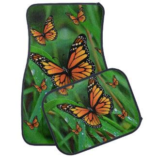 Butterfly floor car mats