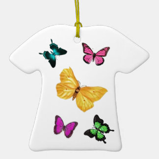 Butterfly Floral Ceramic T-Shirt Decoration